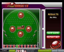 Screenshot of a Pinball Roulette Game